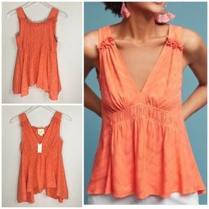 Anthropologie Maeve Bretta Gathered Tank Top. XS.